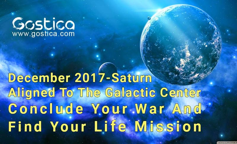 Saturn Aligned To The Galactic Center