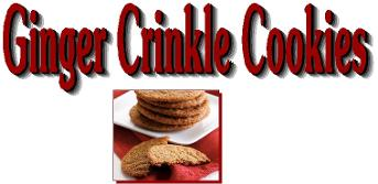Ginger Crinkle cookies title