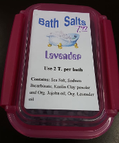 Boxed Bath salts