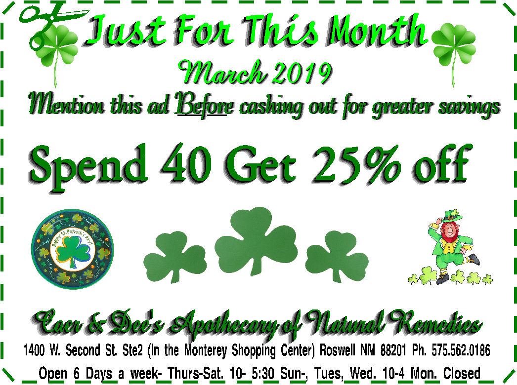 Coupon of the month