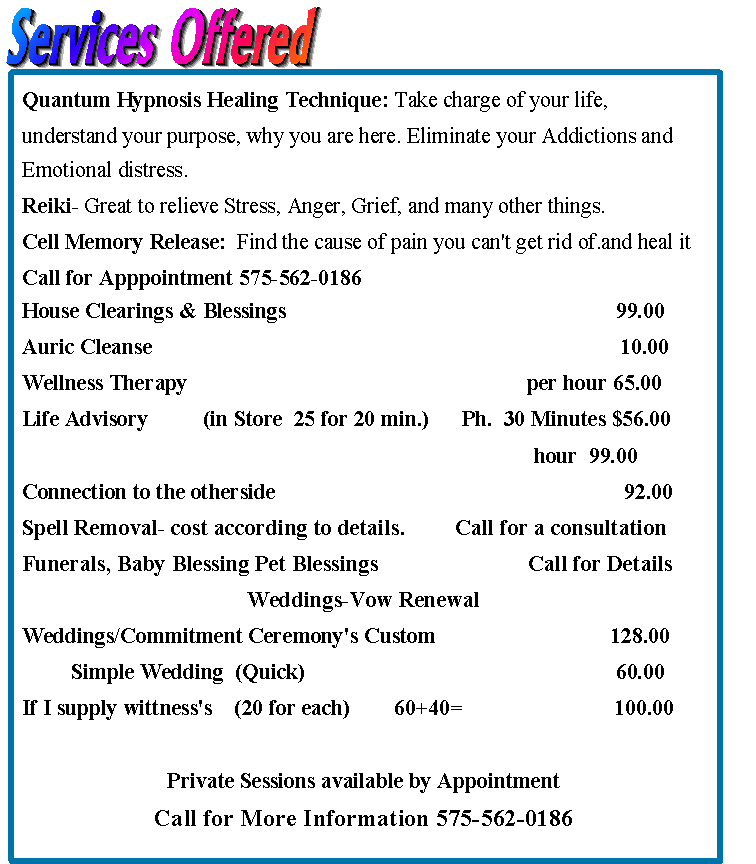 Services Offered-june